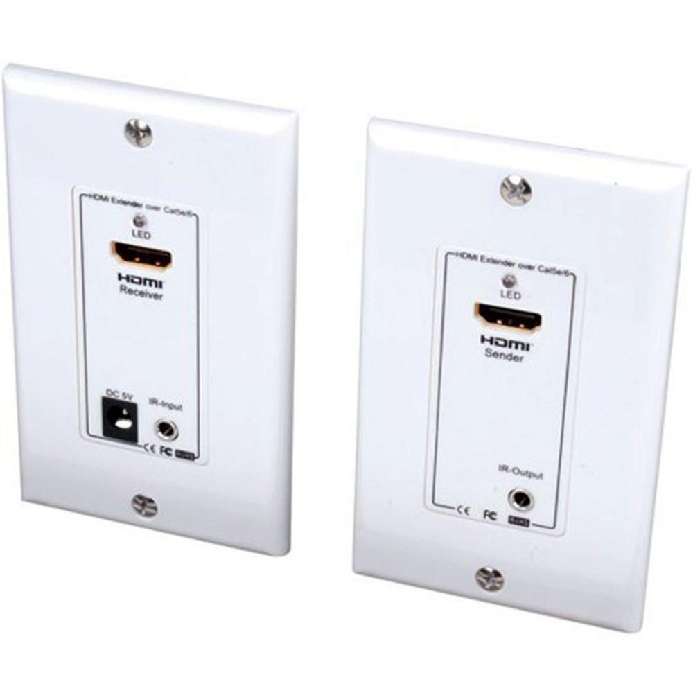Vanco HDMI Wall Plate Extender Over 2 UTP Cables with 164 ft. IR Control