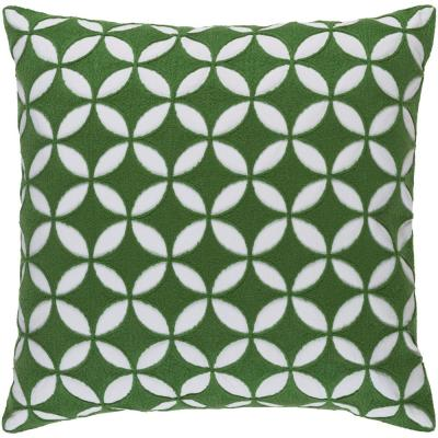 Bulstrode Emerald Geometric Polyester 22 in. x 22 in. Throw Pillow
