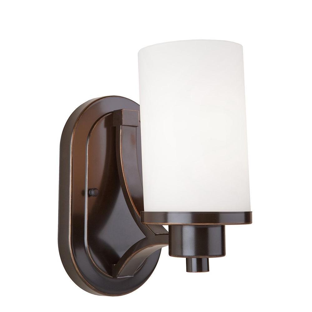 Design House Monroe 1 Light Oil Rubbed Bronze Sconce