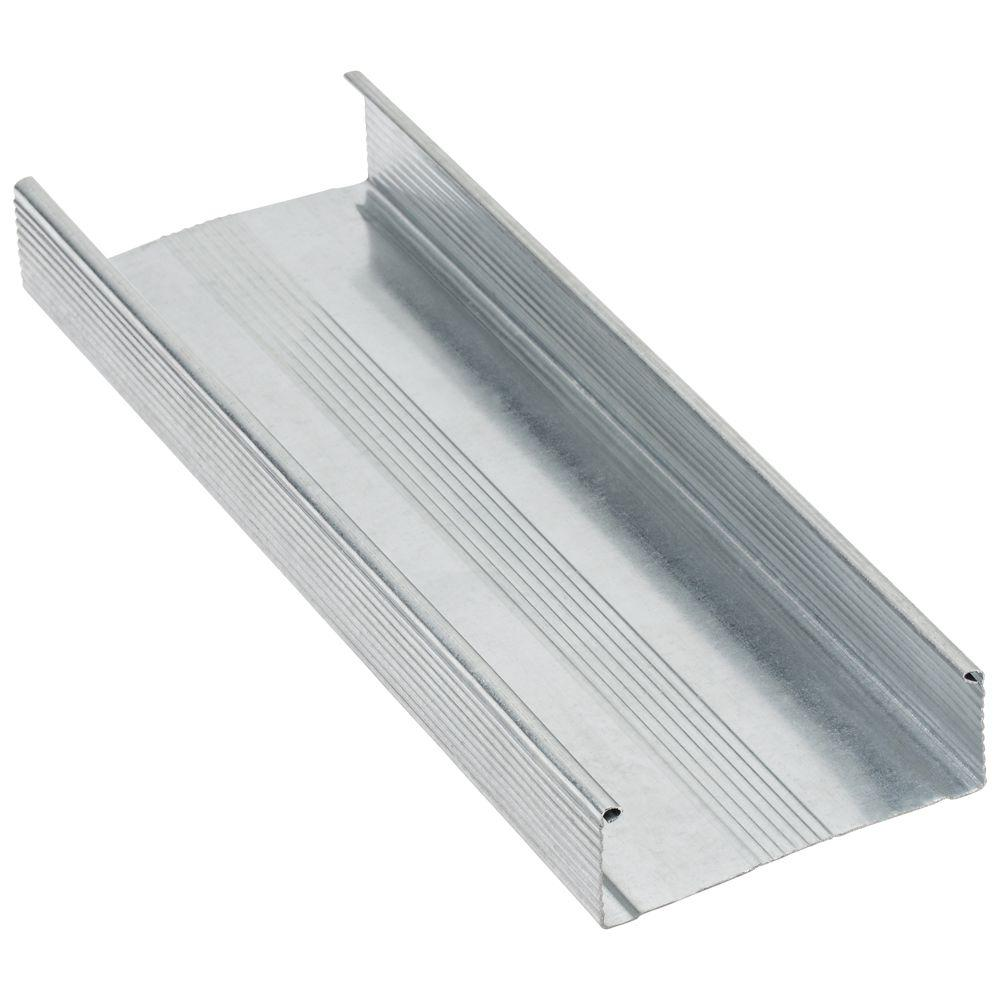 Super Stud Building Products 3-5/8 in  x 8 ft  20-Gauge Galvanized Steel  Wall Framing Stud
