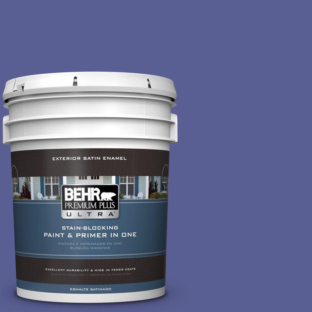 BEHR Premium Plus Ultra 5-gal. #S-G-620 Wizard Satin Enamel Exterior Paint
