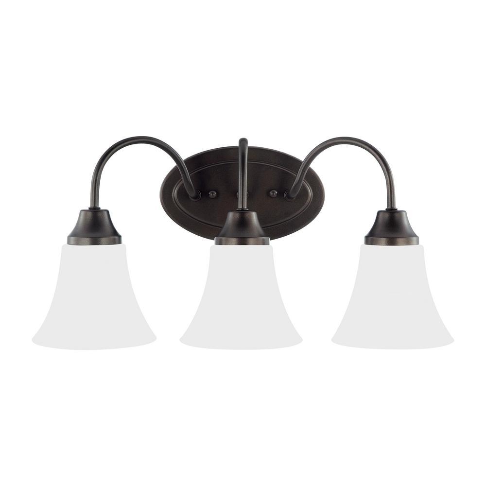 Holman 3-Light Heirloom Bronze Bath Light