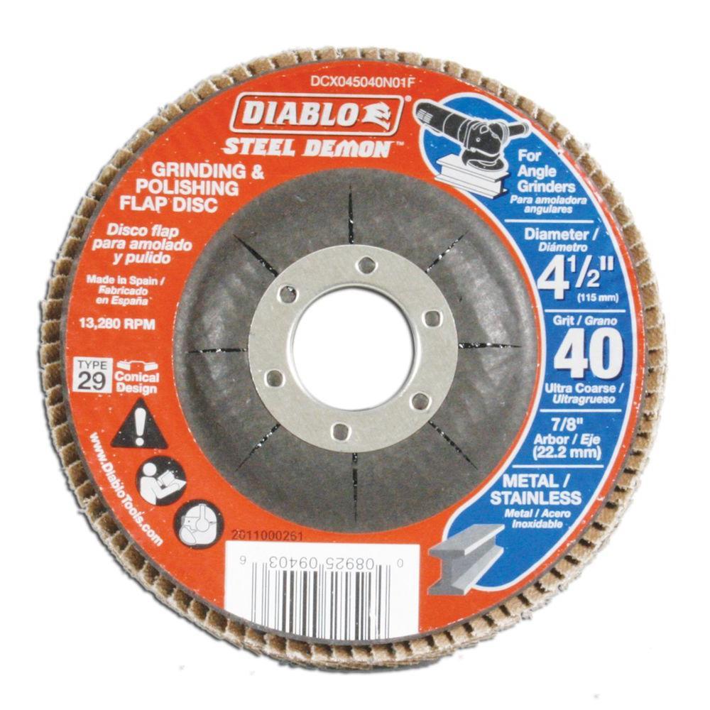 Diablo 4 1 2 In 40 Grit Steel Demon Grinding And