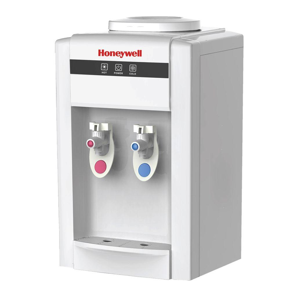 Tabletop Top-Loading Hot and Cold Water Cooler in White