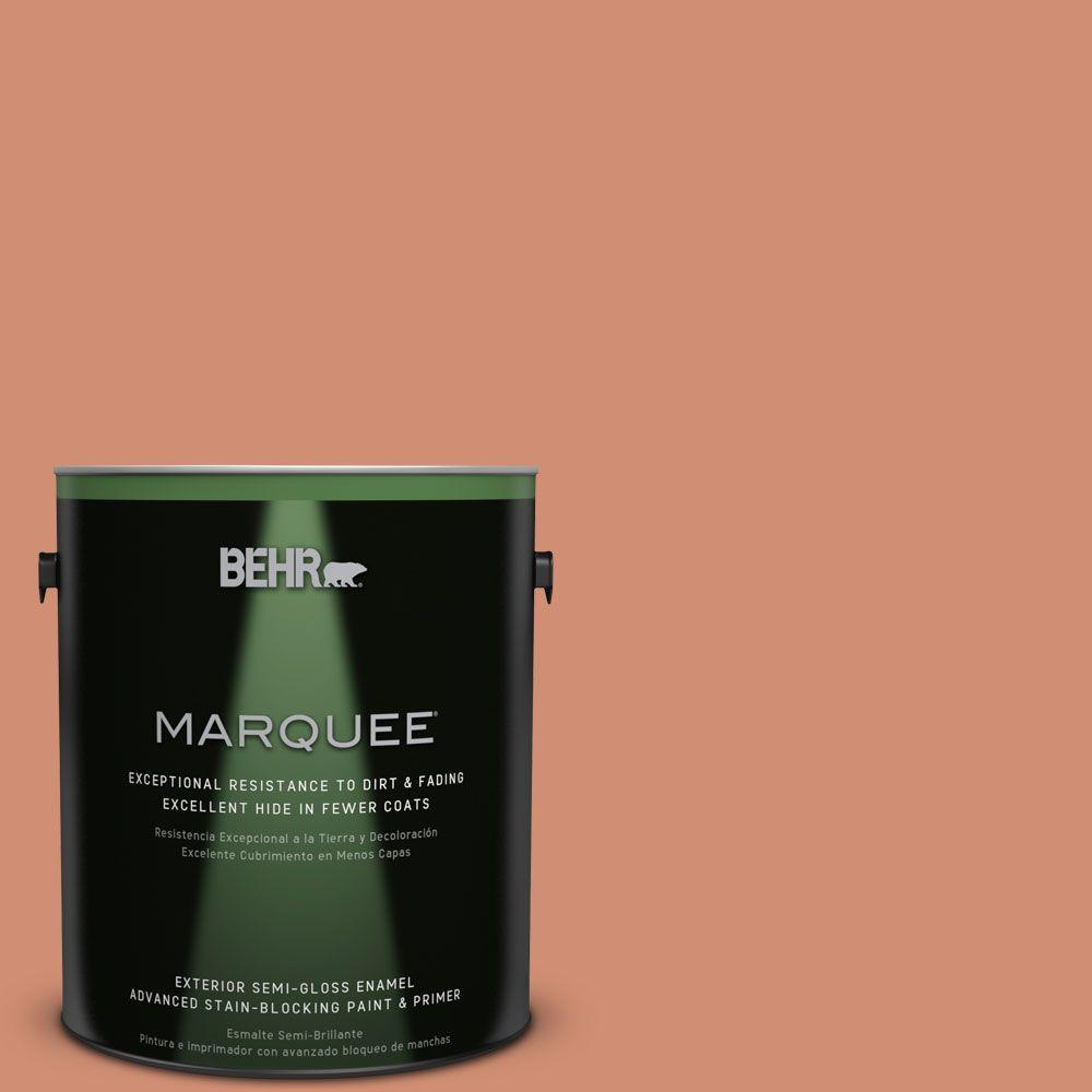 1-gal. #M200-5 Terra Cotta Clay Semi-Gloss Enamel Exterior Paint