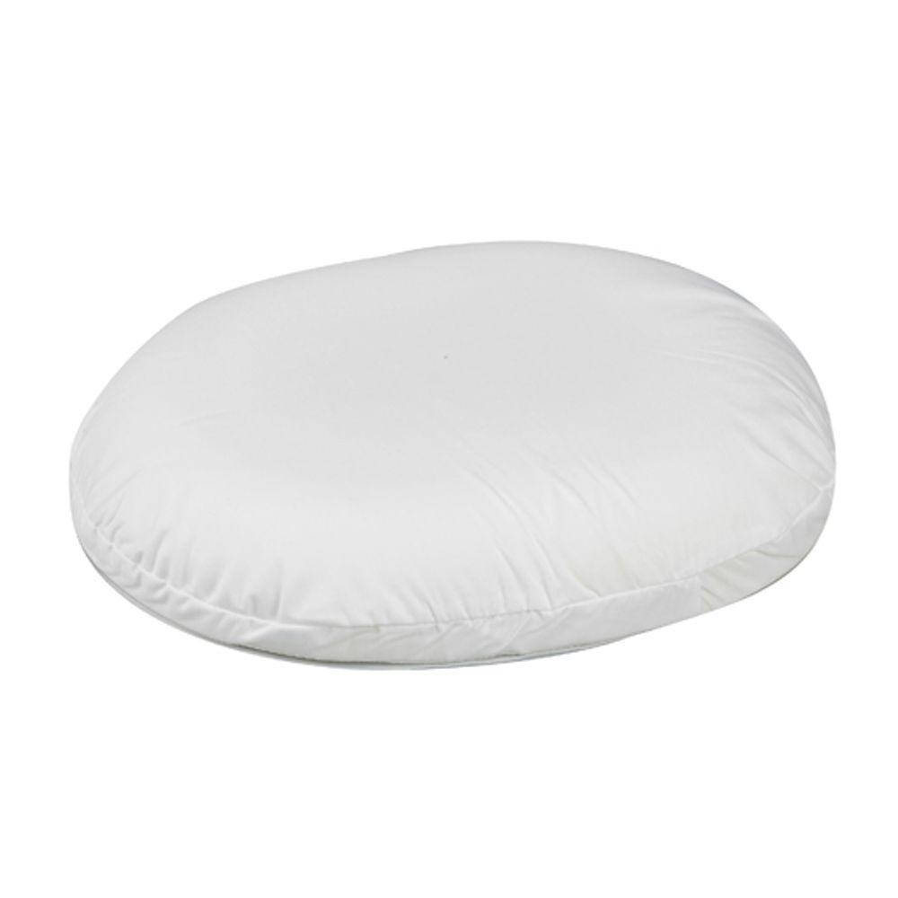 null Contoured Foam Ring Cushion in White