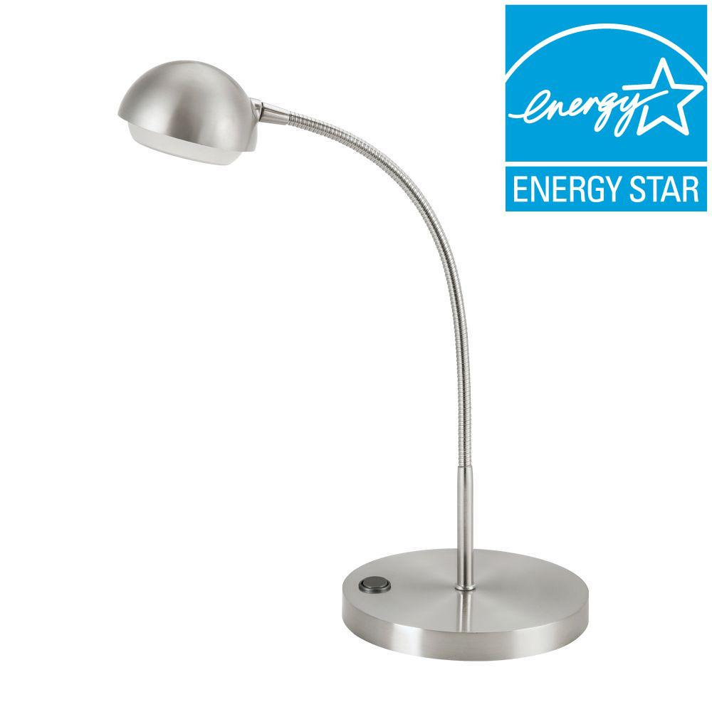 Hampton bay 18 in brushed nickel led table lamp 5a1600 sn the hampton bay 18 in brushed nickel led table lamp geotapseo Choice Image