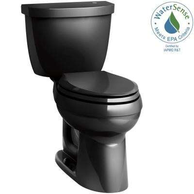Cimarron Touchless Comfort Height 2-Piece 1.28 GPF Elongated Toilet with AquaPiston Flushing Technology in Black Black