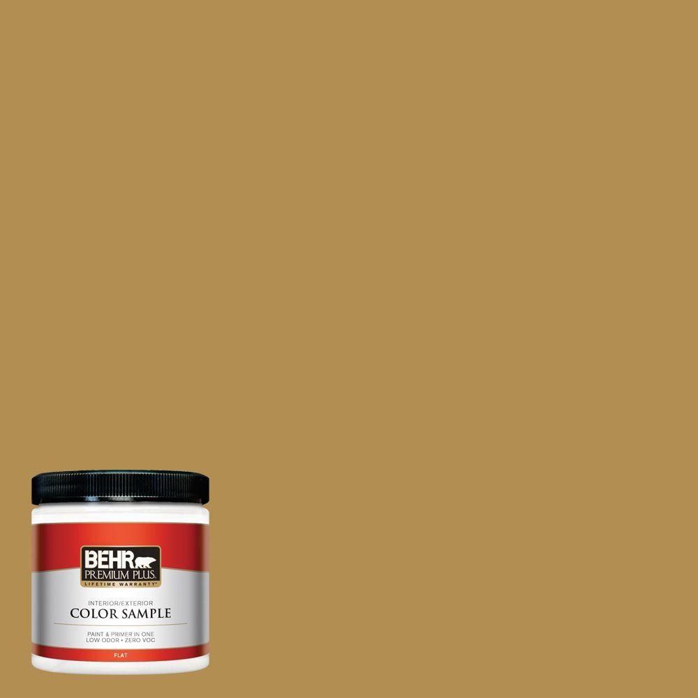 BEHR Premium Plus 8 oz. #350D-6 Bronze Green Interior/Exterior Paint Sample