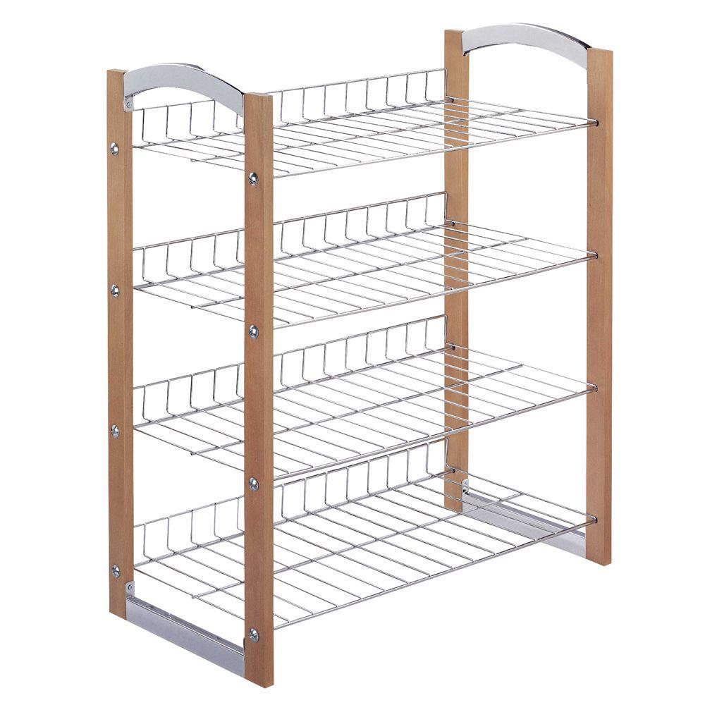 4-Tier 12-Pair Storage Shoe Shelf