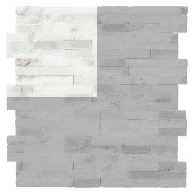 Churchill White Split Face 3 In X 6 13 Mm Marble Mosaic