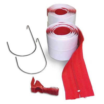 HDAZ2 3 in. x 84 in. Heavy-Duty Adhesive Zippers Includes Knife (2-Pack)