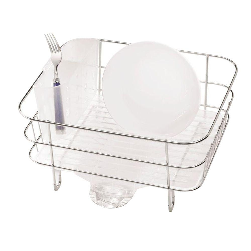 simplehuman Compact Dish rack in Rust-Proof Stainless Steel