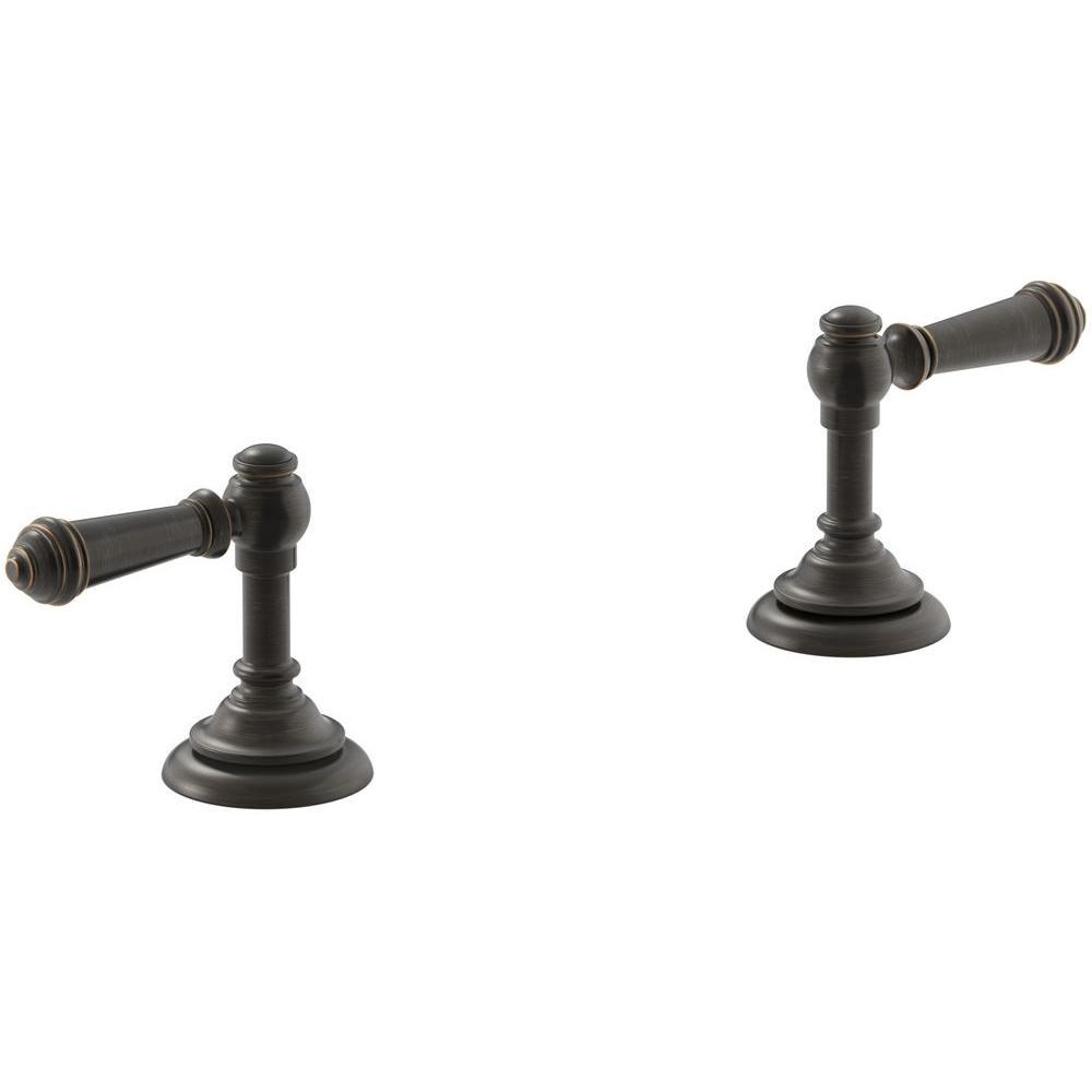 Artifacts Bathroom Sink Lever Handles in Oil-Rubbed Bronze