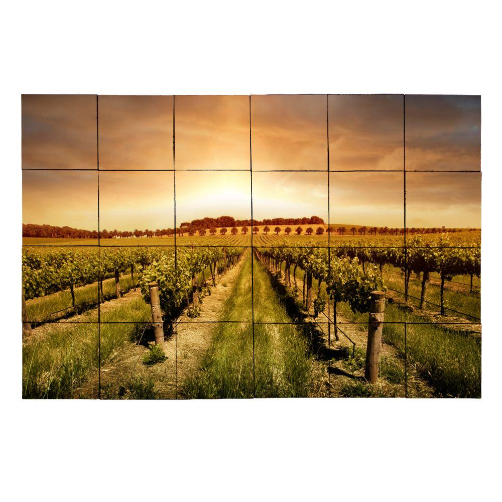 Vineyard2 36 in. x 24 in. Tumbled Marble Tiles (6 sq.