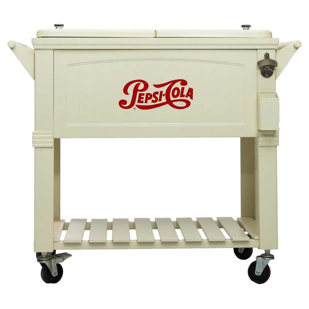 Merveilleux Permasteel 80 Qt. Rolling Patio Cooler Furniture Style