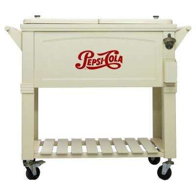 80 Qt. Rolling Patio Cooler Furniture Style