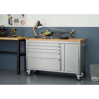 37 in. H. x 56 in. W x 19 in. D Stainless Steel Workbench
