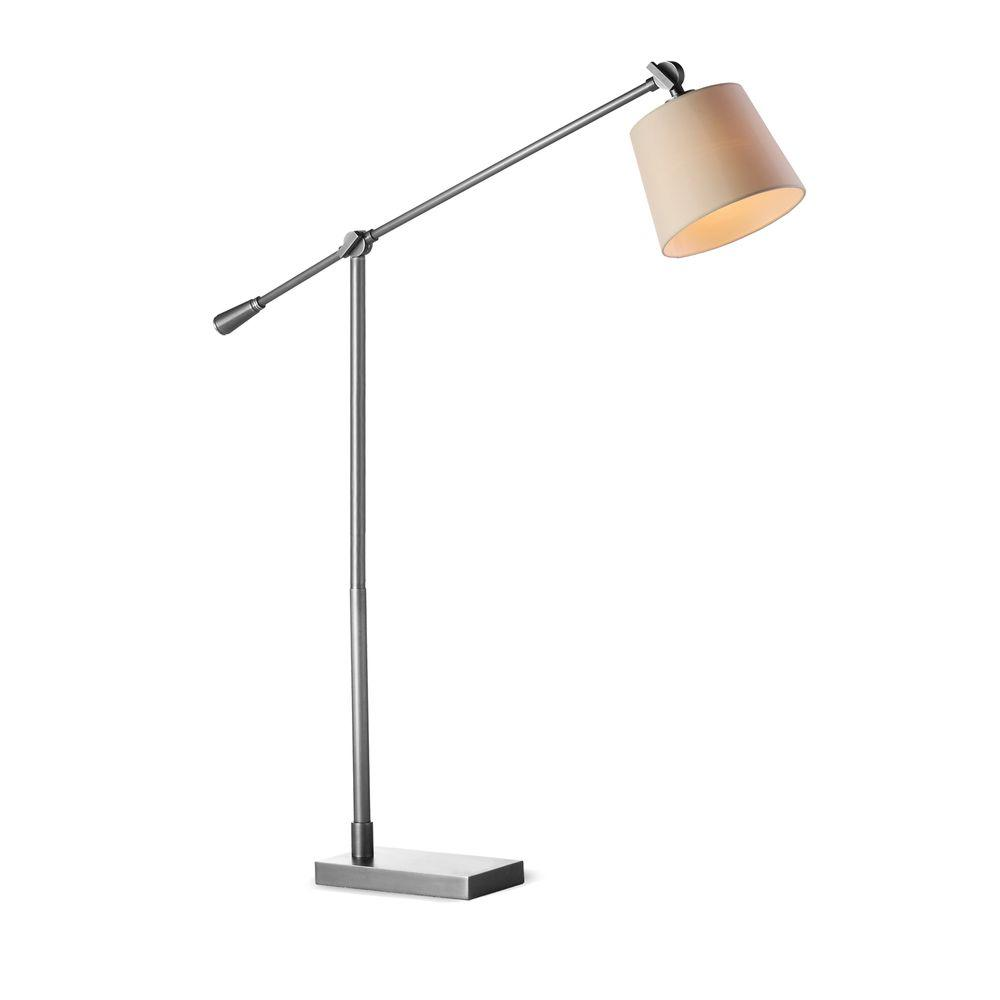 Fangio lighting 53 61 in satin nickel adjustable metal floor task satin nickel adjustable metal floor task lamp mozeypictures Image collections