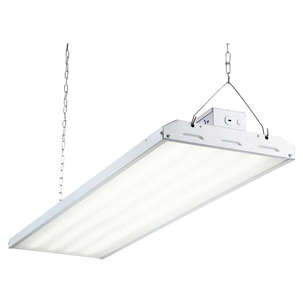 223-Watt 4 ft. White Integrated LED Backlit High Bay Hanging Light with 29,213-Lumens
