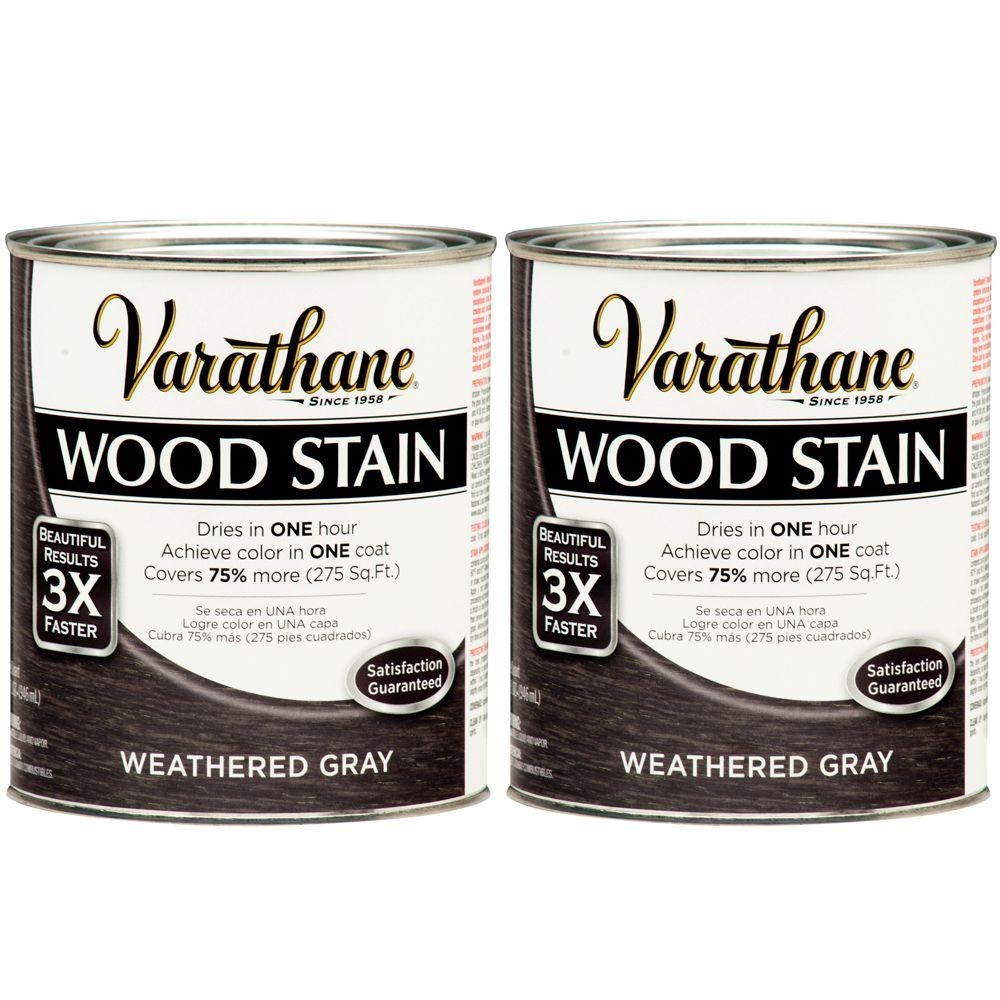 Varathane 1 Qt. Weathered Gray Wood Stain (2-Pack)-DISCONTINUED