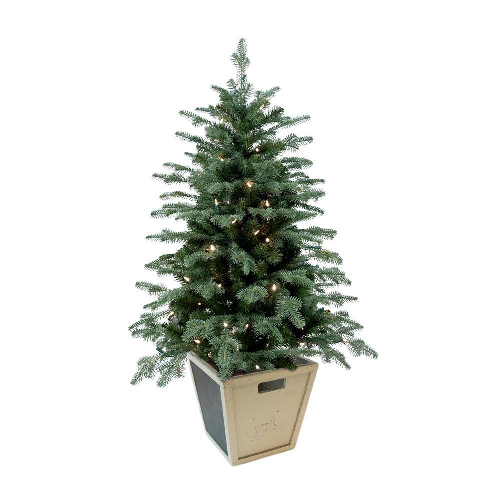 Small Battery Operated Christmas Tree: Home Accents Holiday 4 Ft. Pre-Lit Balsam Artificial