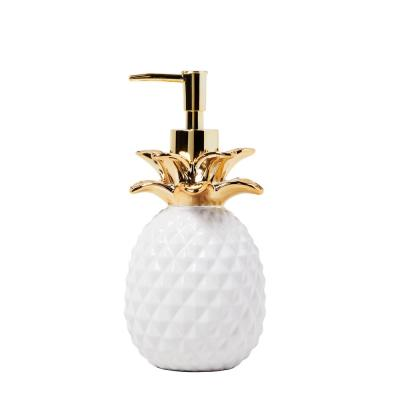 Gilded Pineapple Free Standing Lotion Dispenser in Gold