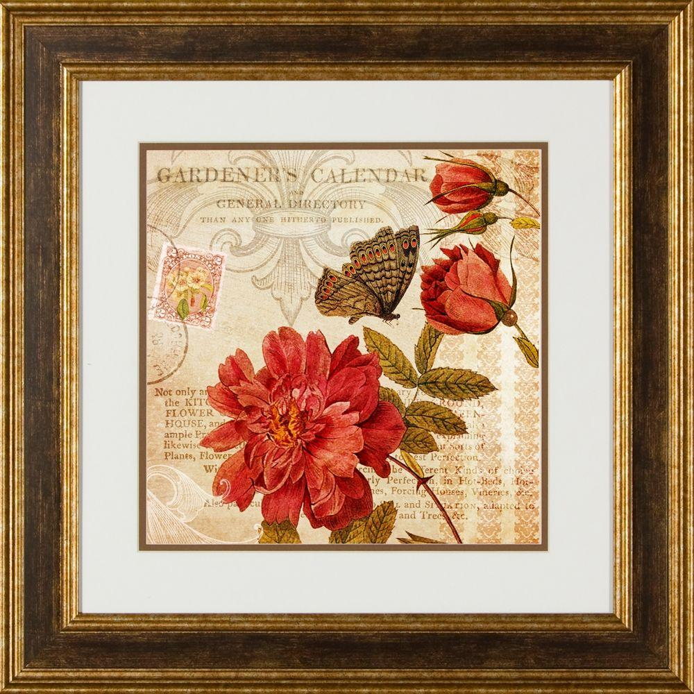 """null 20.5 in. x 20.5 in. """"Botanical Practice A"""" Framed Wall Art"""