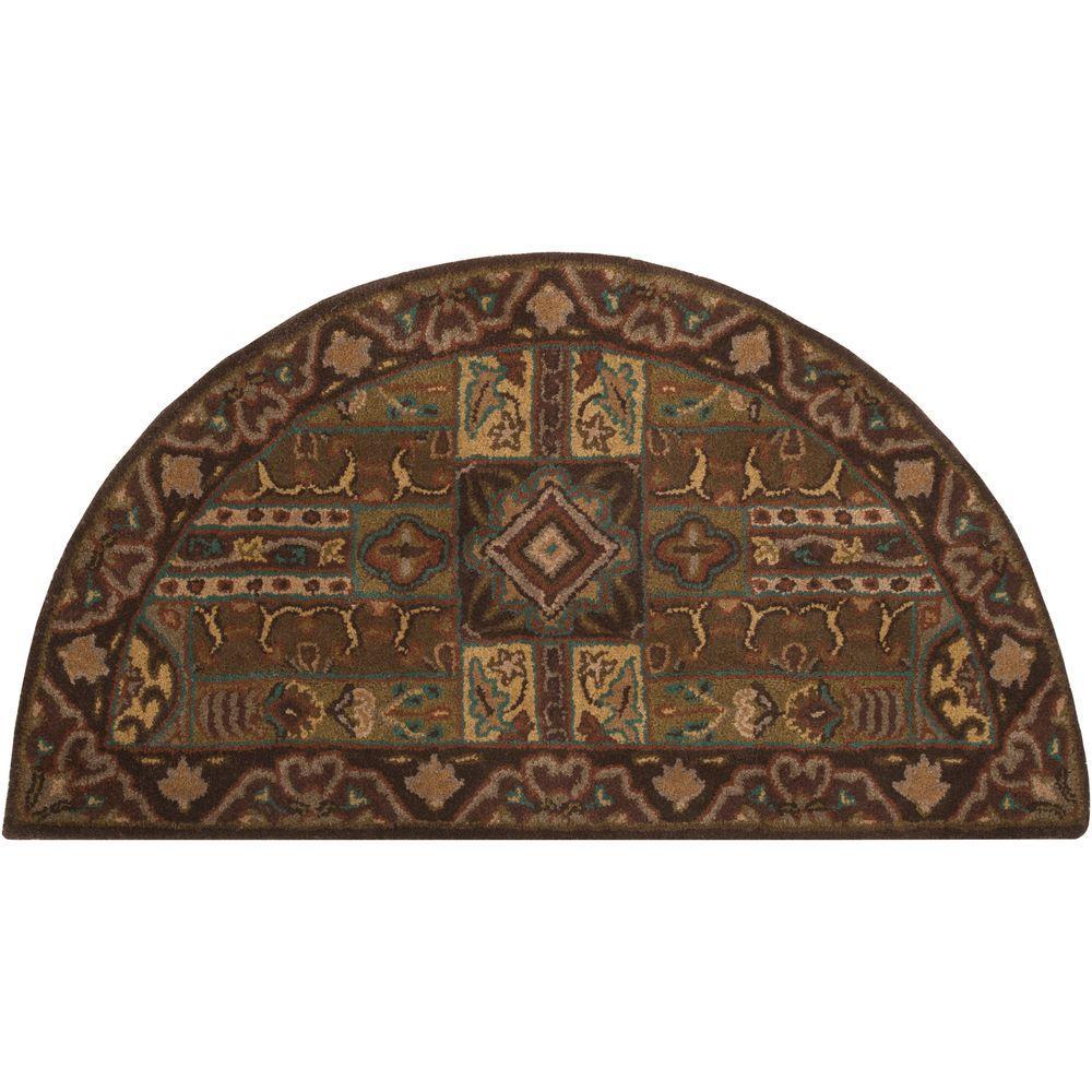 Artistic Weavers Justica Dark Brown 2 Ft X 4 Hearth Area Rug