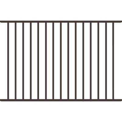 Beechmont Heavy-Duty 4 ft. H x 6 ft. W Pewter Aluminum Pre-Assembled Fence Panel