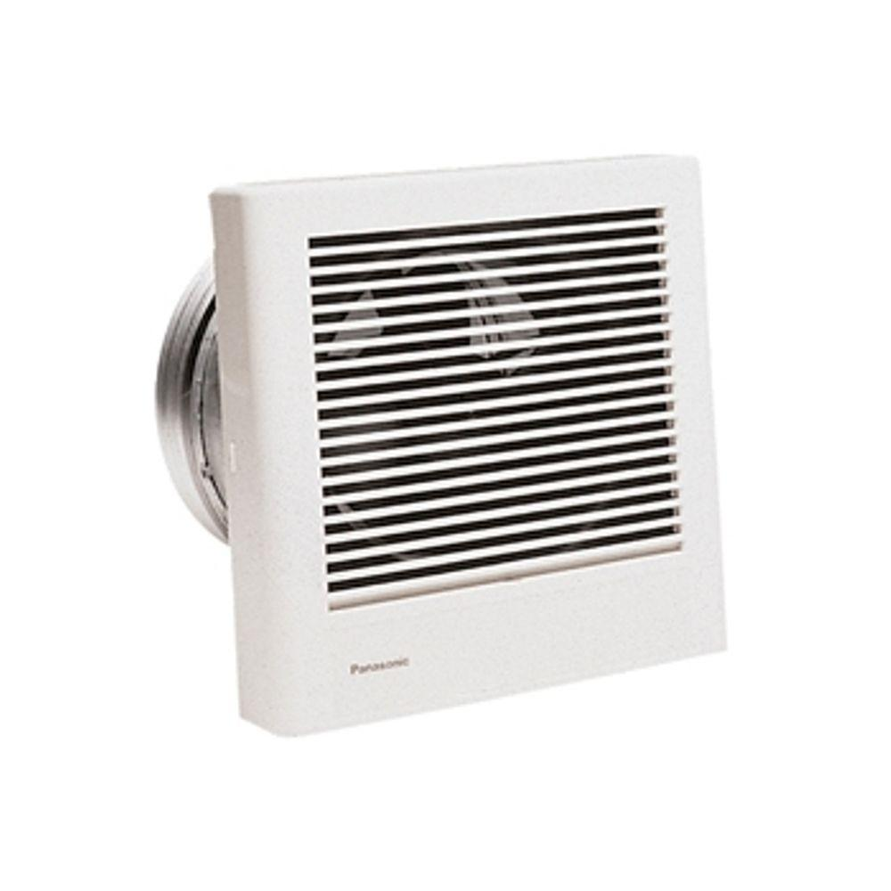 Panasonic whisperwall 70 cfm wall exhaust bath fan energy star fv 08wq1 the home depot for Exterior mounted exhaust fans for bathroom