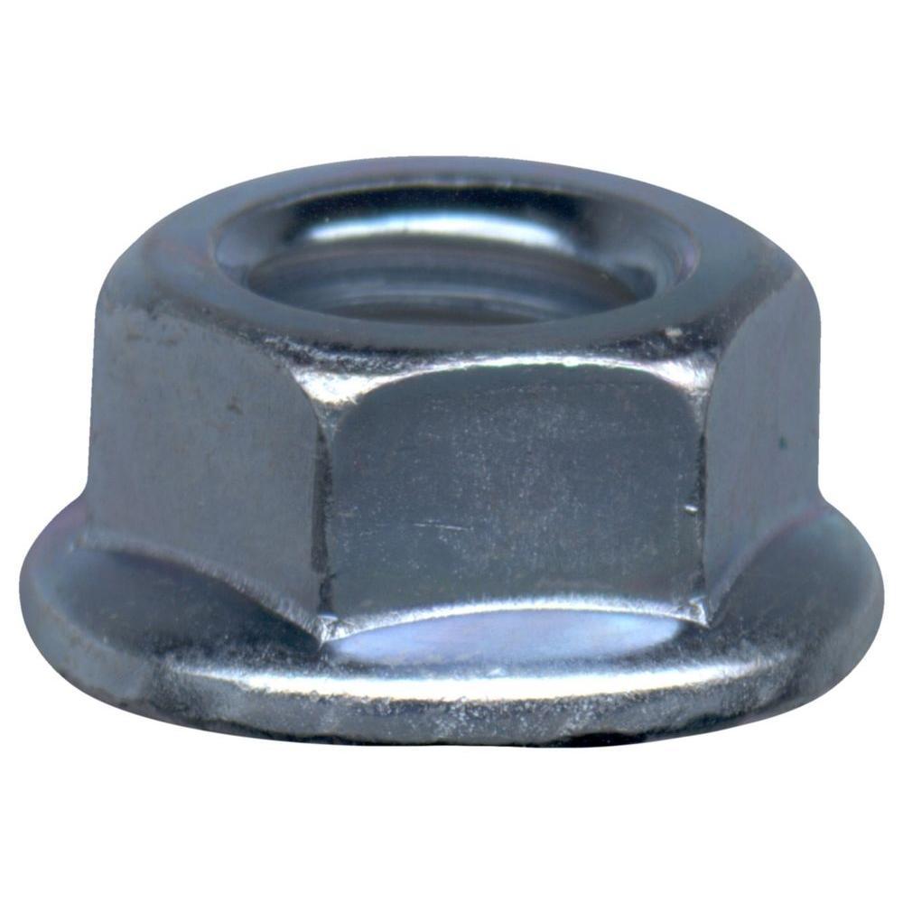 #6-32 tpi Zinc-Plated Steel Serrated Lock Nuts (4-Piece per Bag)