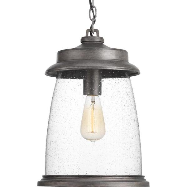 Conover Collection Antique Pewter 1-Light Outdoor Hanging Lantern