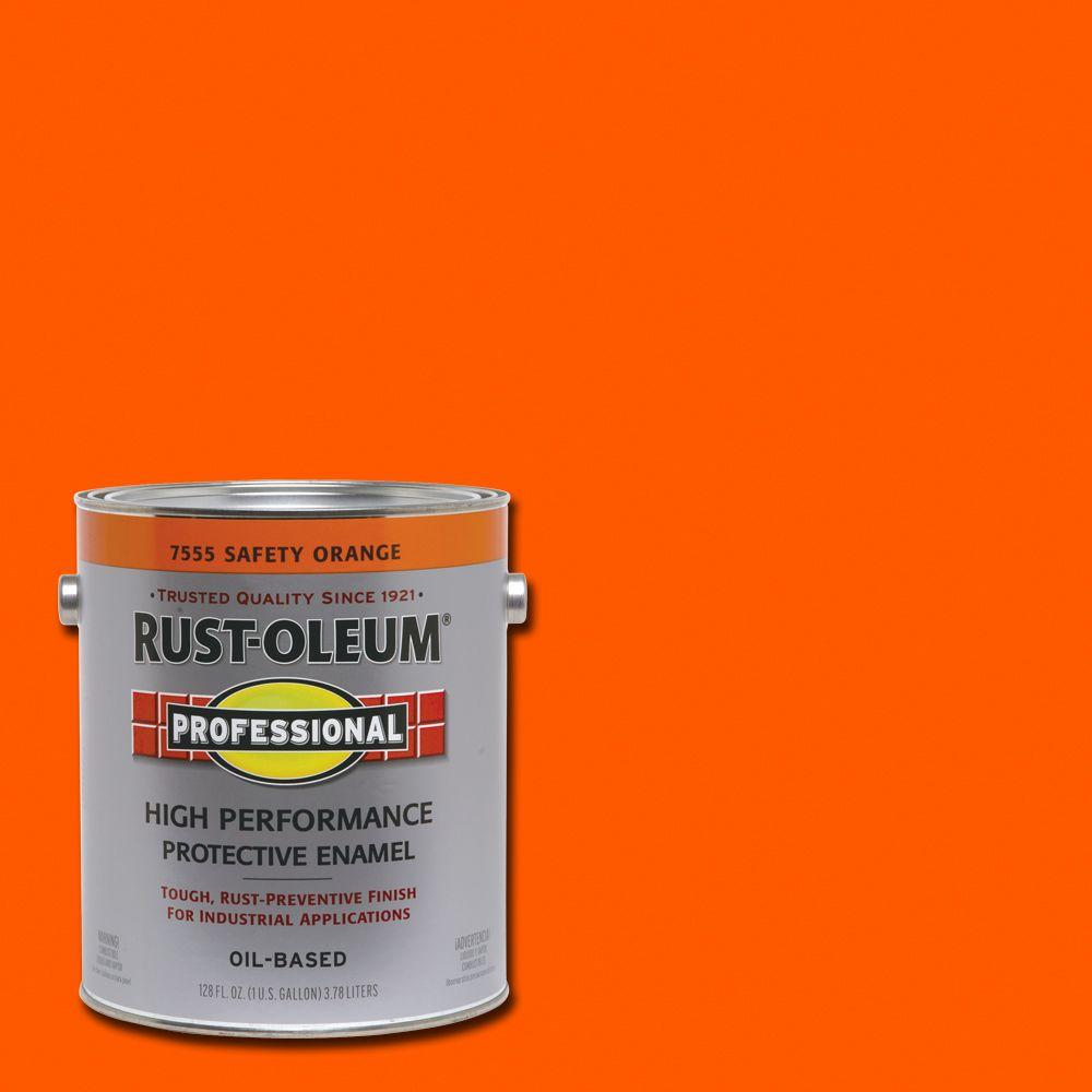 Rust Oleum Professional 1 Gal Safety Orange Gloss
