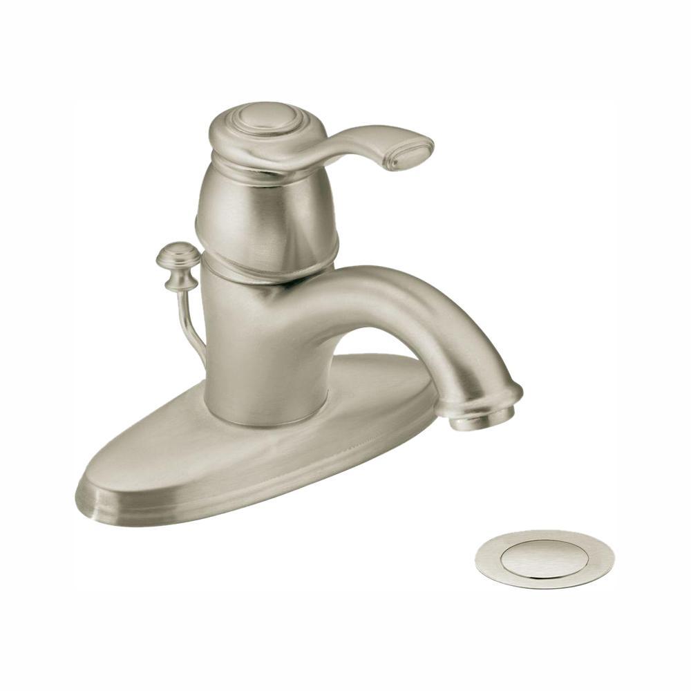 Kingsley Single Hole 1-Handle Bathroom Faucet in Brushed Nickel