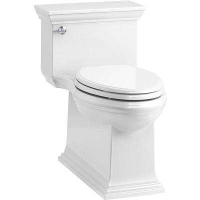 Memoirs Stately 1-Piece 1.28 GPF Single Flush Elongated Toilet in White, Seat Included
