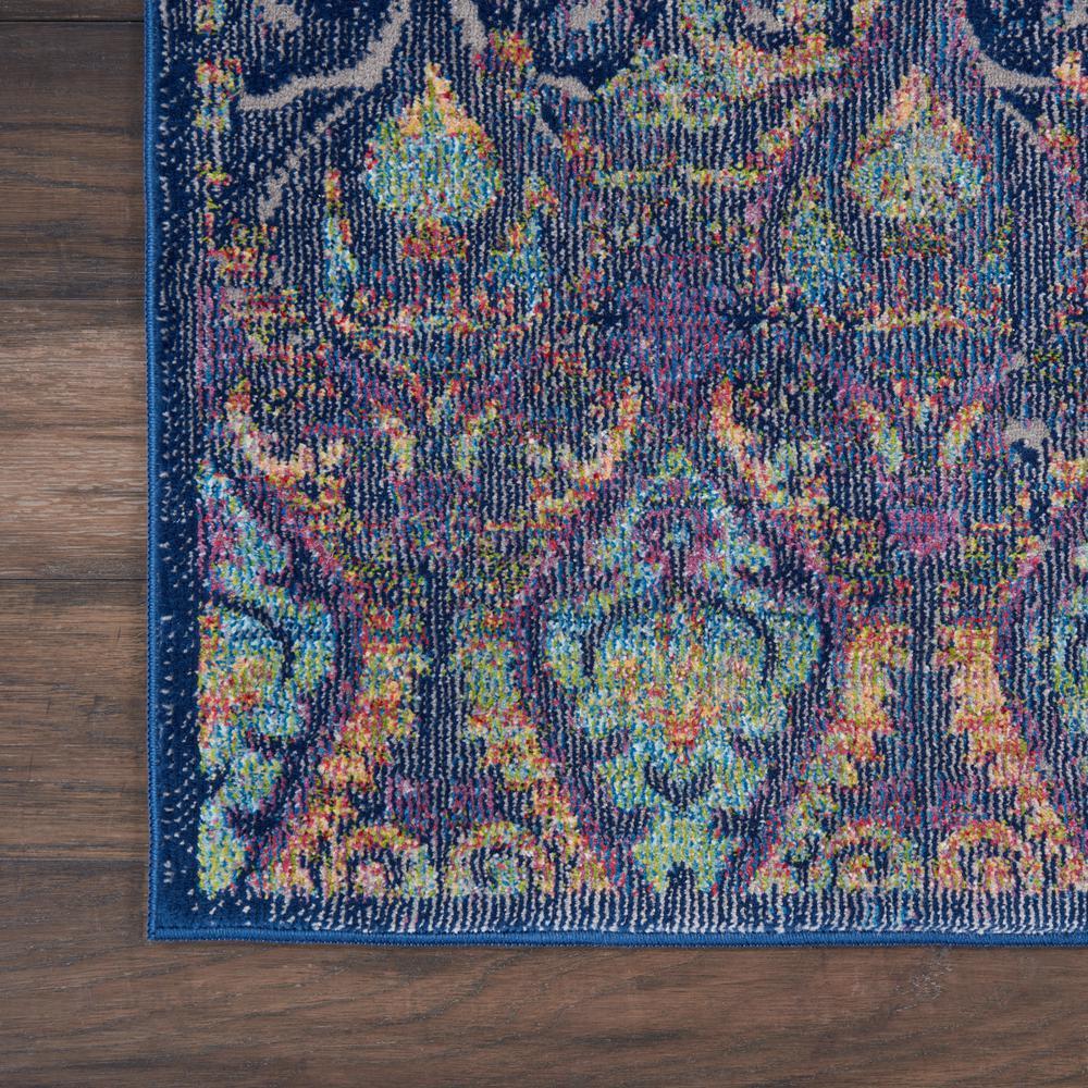 Nourison Global Vintage Navy Multicolor 2 Ft X 8 Ft Oriental Transitional Runner Rug 458896 The Home Depot