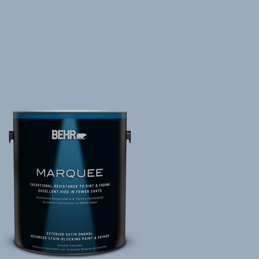 BEHR MARQUEE 1-gal. #570F-4 Blue Willow Satin Enamel Exterior Paint