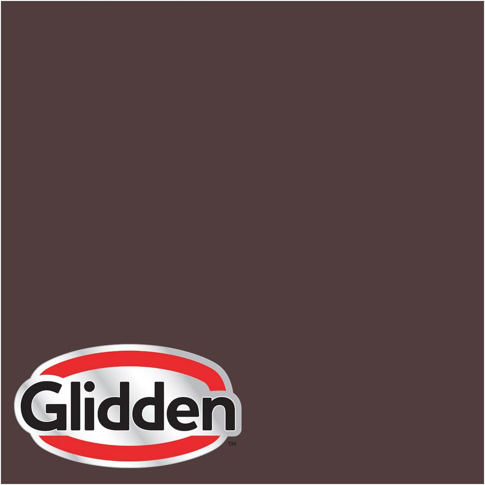 Glidden Premium 8 Oz Hdgr39d Ranch House Brown Flat Interior Paint Sample