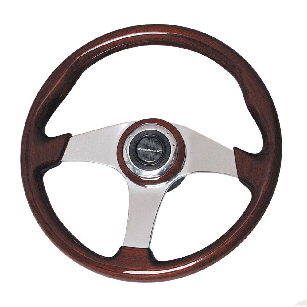 Uflex 13.8 in. ALICUDI Mahogany Steering Wheel