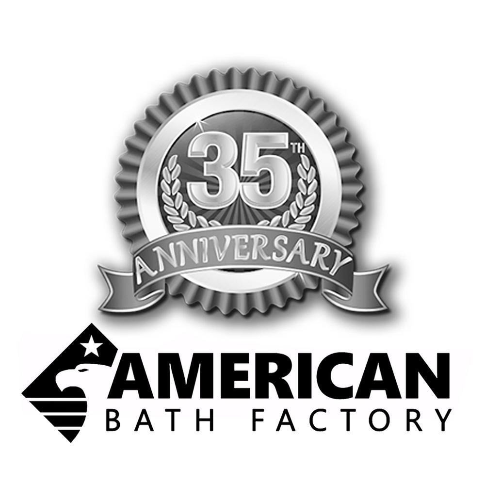60 in. AcraStone Classic Pedestal Flatbottom Non-Whirlpool Bathtub in White