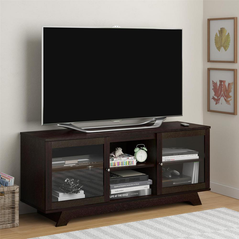 altra furniture englewood cinnamon cherry storage entertainment center 1222012pcom the home depot. Black Bedroom Furniture Sets. Home Design Ideas