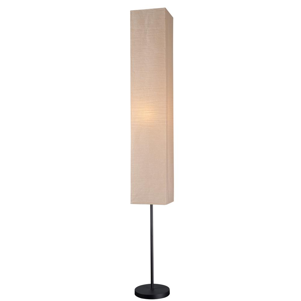 Floor Lamp With Collapsible Paper Shade