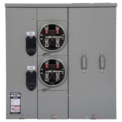 Uni-PAK 2-Gang 400 Amp Ringless Style Multi-Family Metering with Horn Bypass