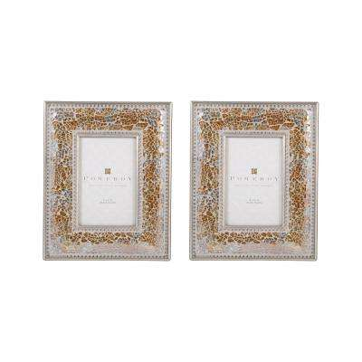 1-Opening 4 in. x 6 in. Roxbury Gilded Shimmer Picture Frames (2-Pack)