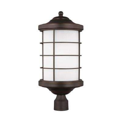 Sauganash 1-Light Antique Bronze Post Lantern