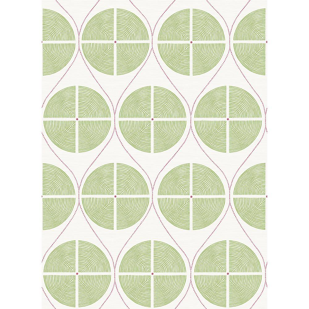 A-Street 56.4 sq. ft. Luminary Green Ogee Wallpaper 2901-25426