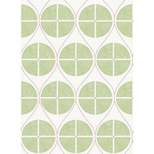 A-Street 8 in. x 10 in. Luminary Green Ogee Wallpaper Sample
