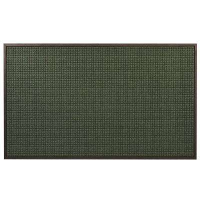 Guzzler Hunter Green 36 in. x 120 in. Rubber-Backed Entrance Mat