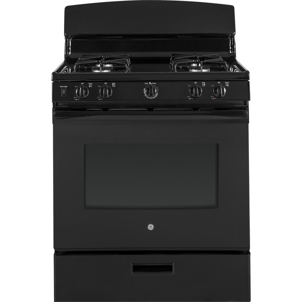 Ge 4 8 Cu Ft Gas Range In Black